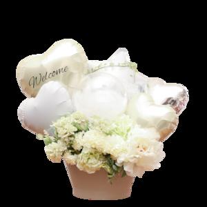 balloon001     Whitebase 〜flower arrange〜