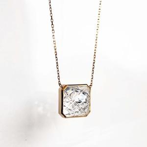 Quartz KIRIKO Necklace (Square10 / N120-CQ)