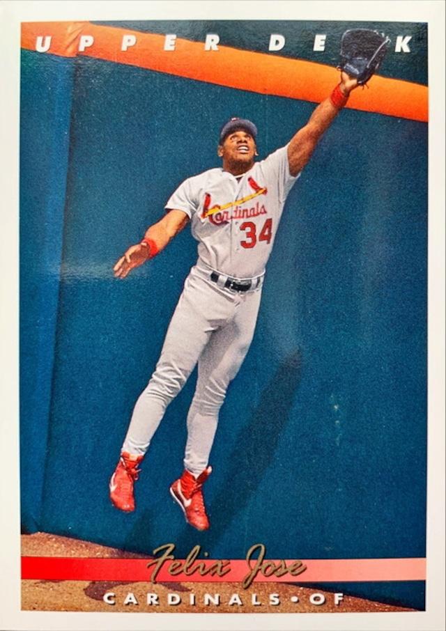 MLBカード 93UPPERDECK Felix Jose #156 CARDINALS