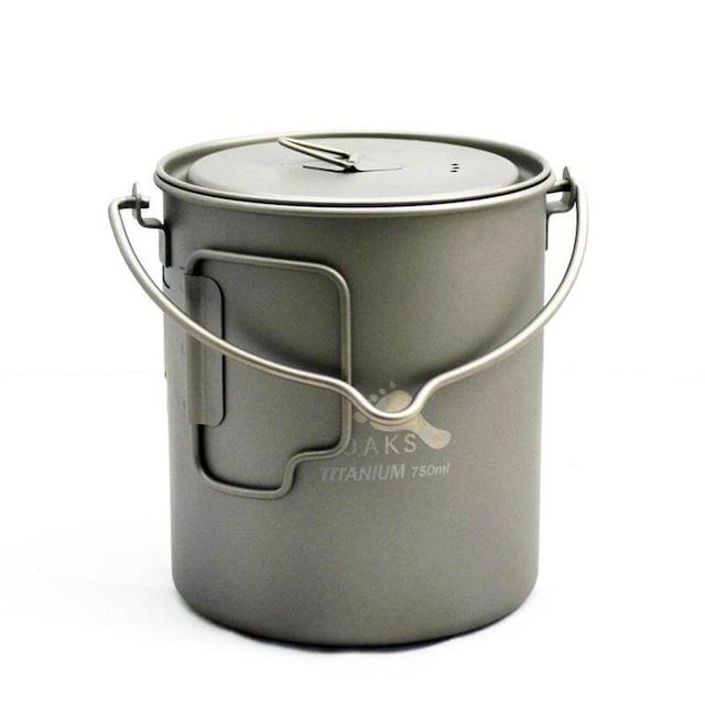 新品 Toaks Titanium bail handle pots -750ml