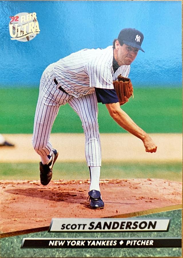 MLBカード 92FLEER Scott Sanderson #414 YANKEES