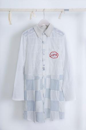 NIGATSU 雲遊びのシャツワンピース
