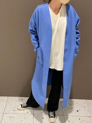 ノーカラー カラーコート[Color:ブルー]