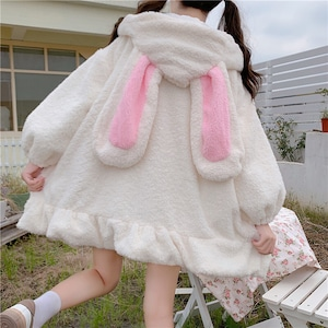 ロリータ服 ロリィタ 冬 コート ファー ふわふわ もこもこ 可愛い Lolita うさぎみみ ジャケット 9670