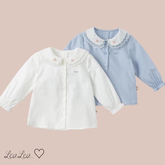 dave&bella2021AW新作♡二重襟デザインブラウス(73cm-130cm)| LeaLea...♡(レアレア)-海外の子供服セレクトショップ