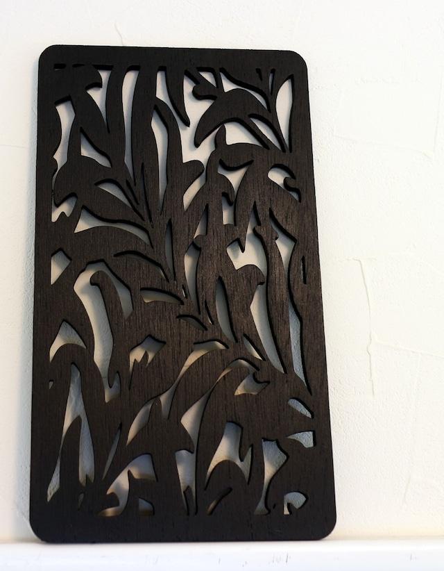 壁インテリアパネル アジアンリーフのウォールアート(Lサイズ) 木製 軽量 おしゃれインテリア雑貨 アジアンインテリア  新築祝いプレゼント 引っ越し祝いプレゼント 模様替え