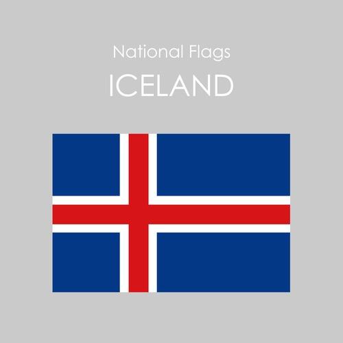 国旗ステッカー アイスランド