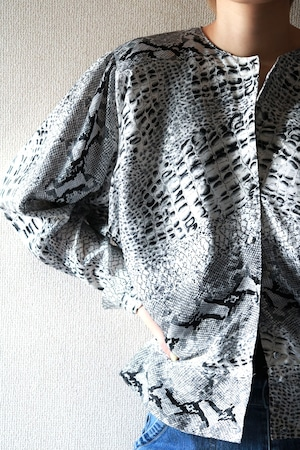 Vintage python pattern shirt