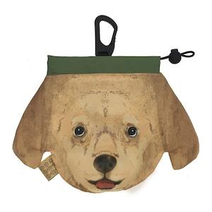 犬のウンチバッグ M【ダックスフント】 (クリーム色) 防臭生地 / デオドラント加工布使用