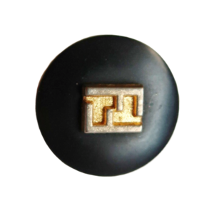 【VINTAGE FENDI BUTTON】ネイビーロゴゴールド ボタン 17mm F-19019