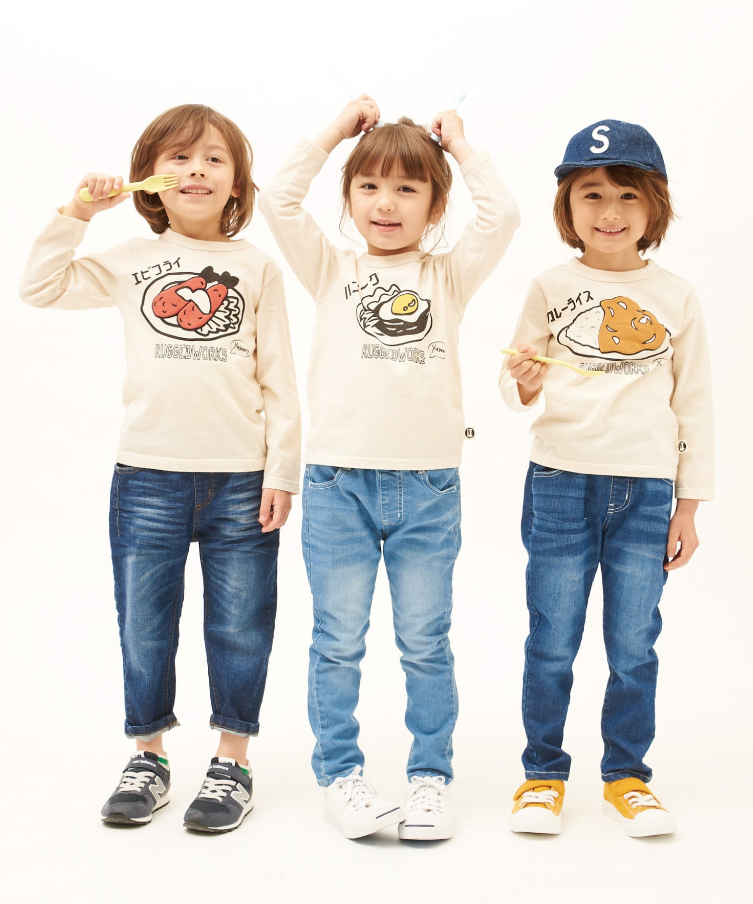 ごちそうプリントロングTシャツ(日本製)