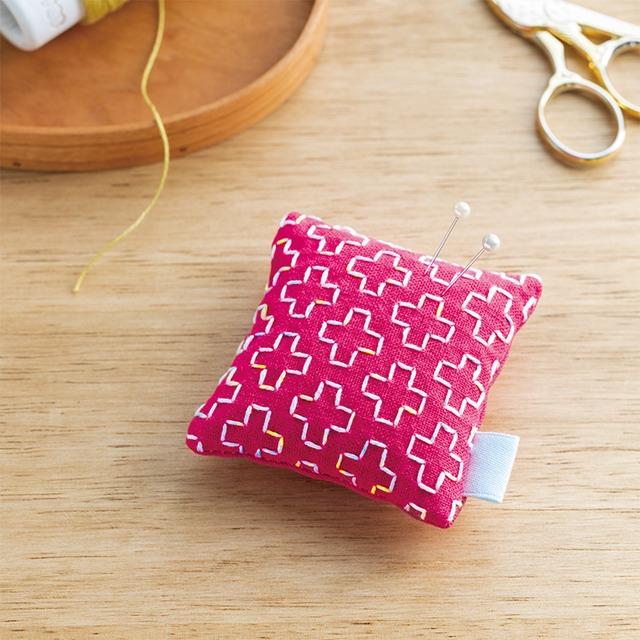 刺し子キット | 刺し子のピンクッション(ピンク)
