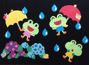 【6月壁面装飾】梅雨空の散歩道