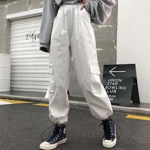 2722レディース カーゴパンツ ダンスパンツ 衣装 ヒップホップダンスウェア 原宿系 カジュアルパンツ ロングパンツ ストリート 男女兼用