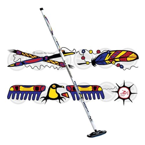 #UnitedWeCurl ファイバーライト Air ブラシ Indigenous Cultureデザイン