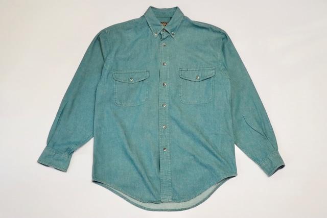 USED 80s Eddie Bauer L/S shirt -Medium 01162