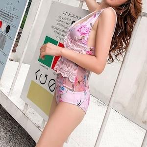 ♡ピンクフラワースイムウェア