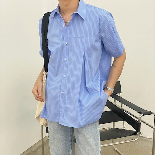 タックストライプシャツ BL9105
