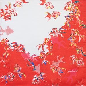 キンギョドロップ ポリエステル 2巾風呂敷(約70cm角)【日本製】