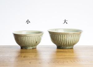 灰釉 鎬 飯碗(大)/くるり窯