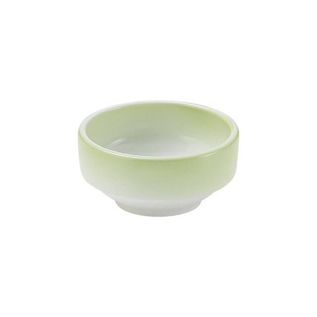 強化磁器 9cm すくいやすい食器 ぼかし若草【1711-2780】