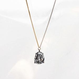 Black Tourmaline Long Necklace(N173-BT)