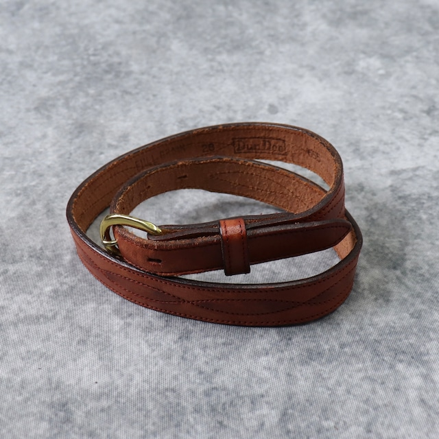 1970s  Vintage  Leather  Belt  DunDee A341