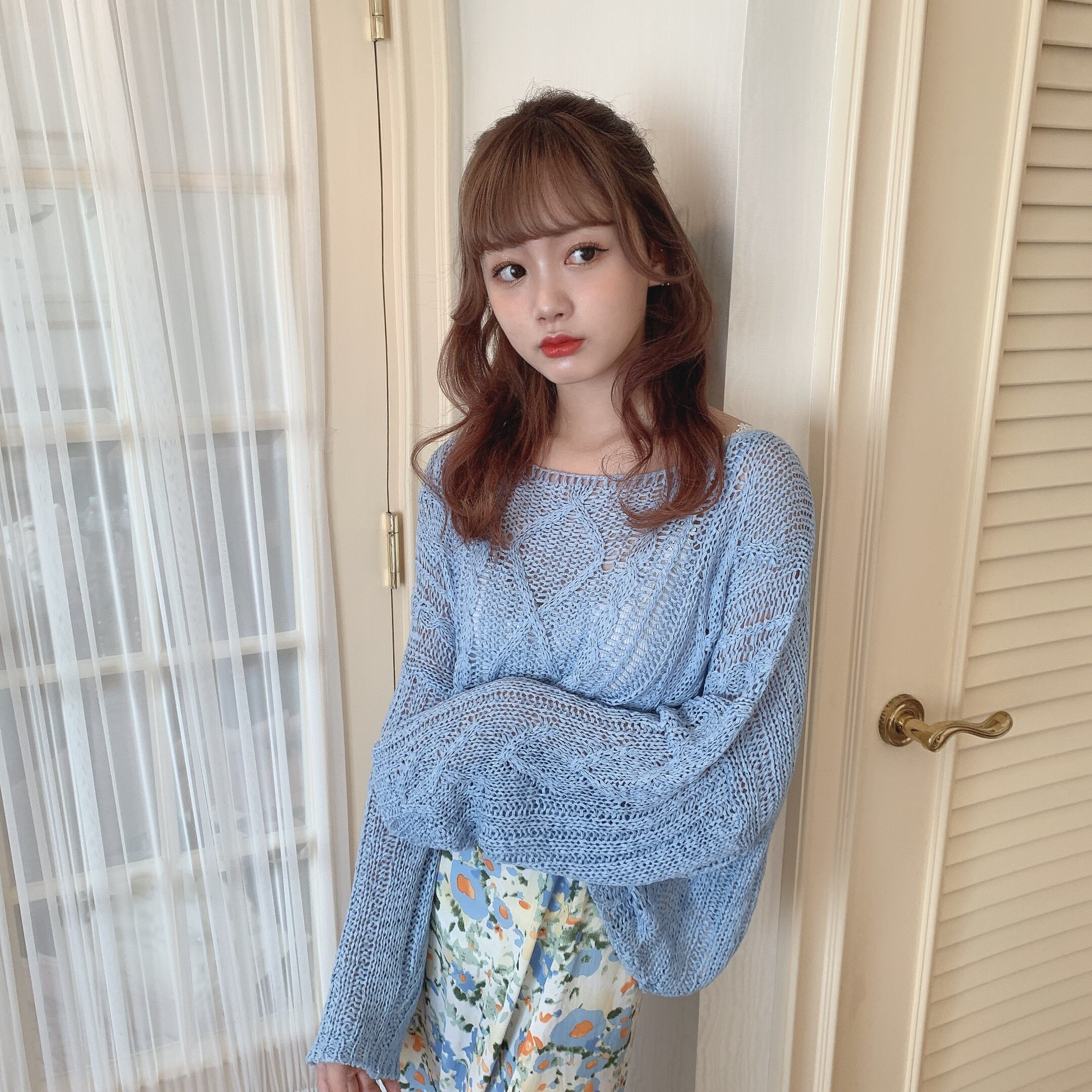 pastel summer knit
