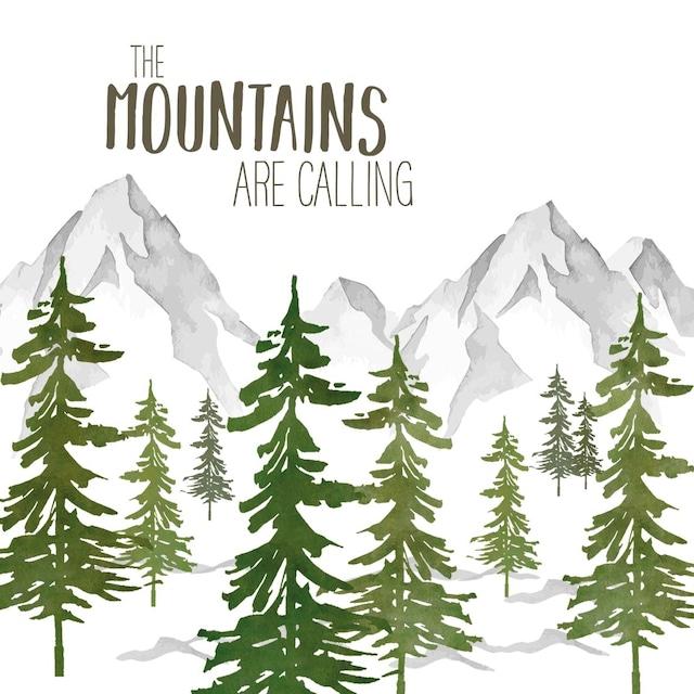 【Paperproducts Design】バラ売り2枚 ランチサイズ ペーパーナプキン Adventure Mountains ホワイト