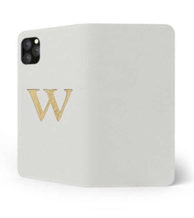 iPhone Premium Smooth Leather Case (Cotton White) : Book Cover