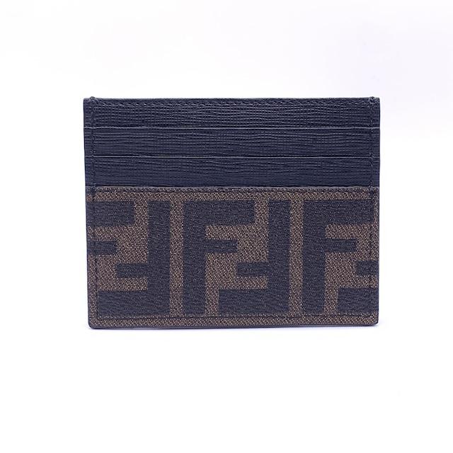 FENDI フェンディ FF ズッカ カードケース 名刺入れ パスケース 財布 コインケース ブラウン vintage ヴィンテージ オールド  28a2c7