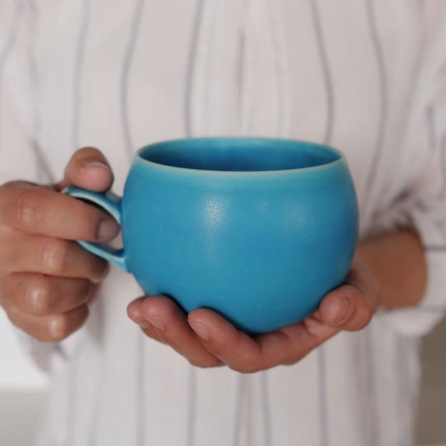 トルコ青マグカップ3種(大)琉球工藝