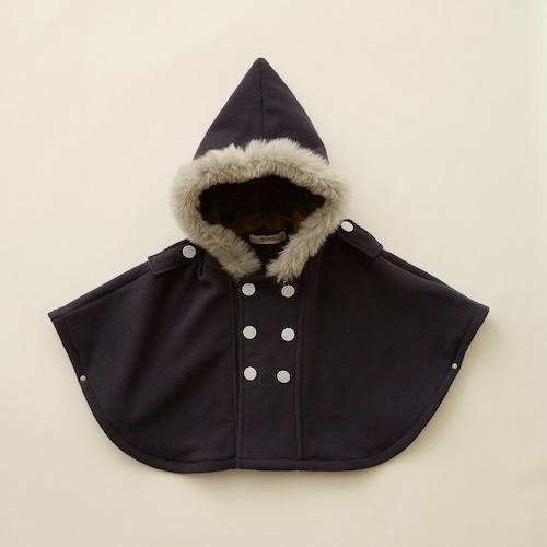 《eLfinFolk 2021AW》Freece  baby cape / navy / F(80-100cm)