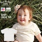 SOS from Texas BABY S/S CREW TEE ST-3000 オーガニック コットン ティー シャツ ベビー 赤ちゃん プレゼント 出産祝 綿 安心 Tシャツ