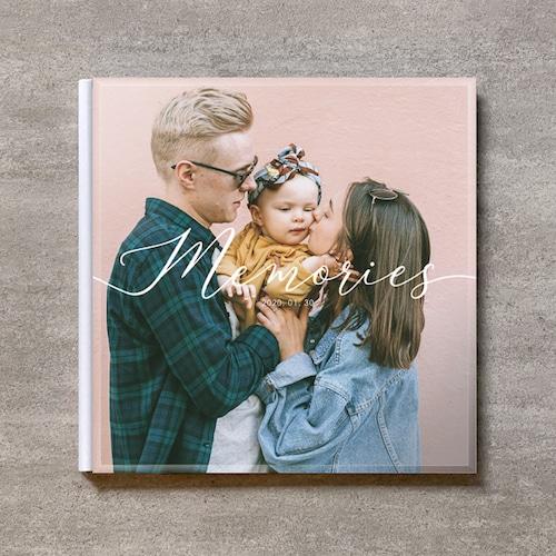 Handwriting-memories-FAMILY_A4スクエア_10ページ/20カット_クラシックアルバム(アクリルカバー)