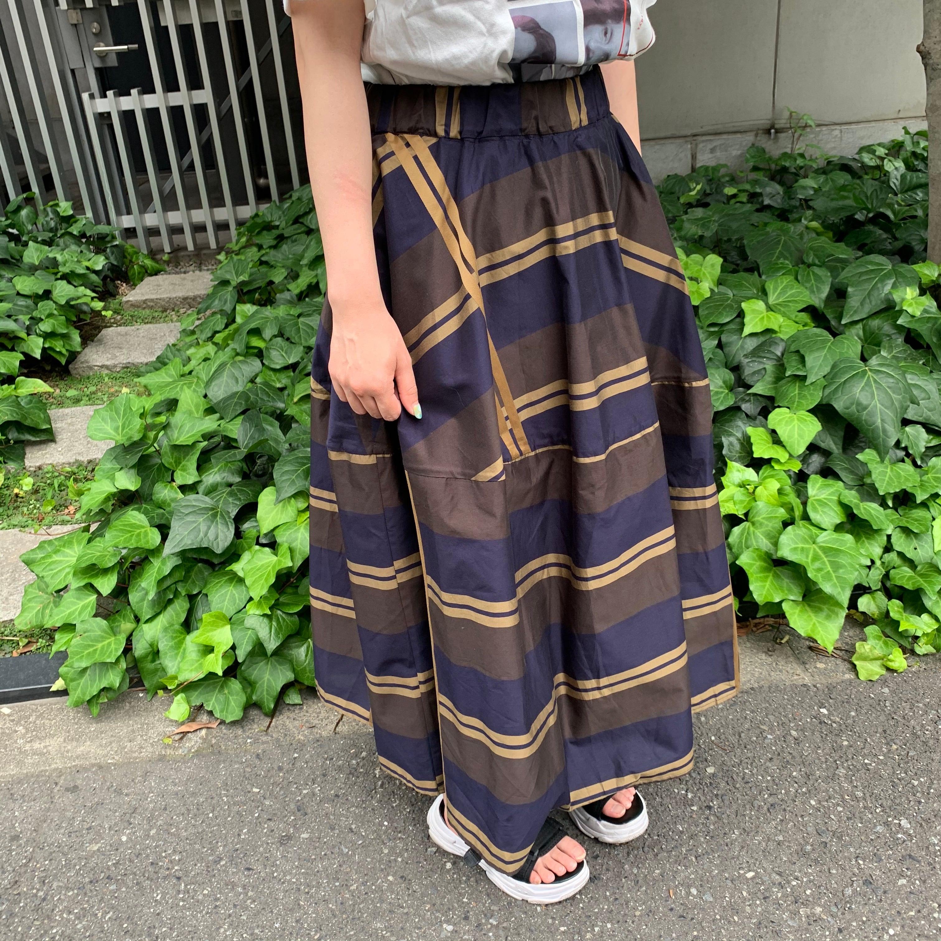 【即納】シルクスカート(チェック柄) インポート Aライン ロング丈 大人カジュアル