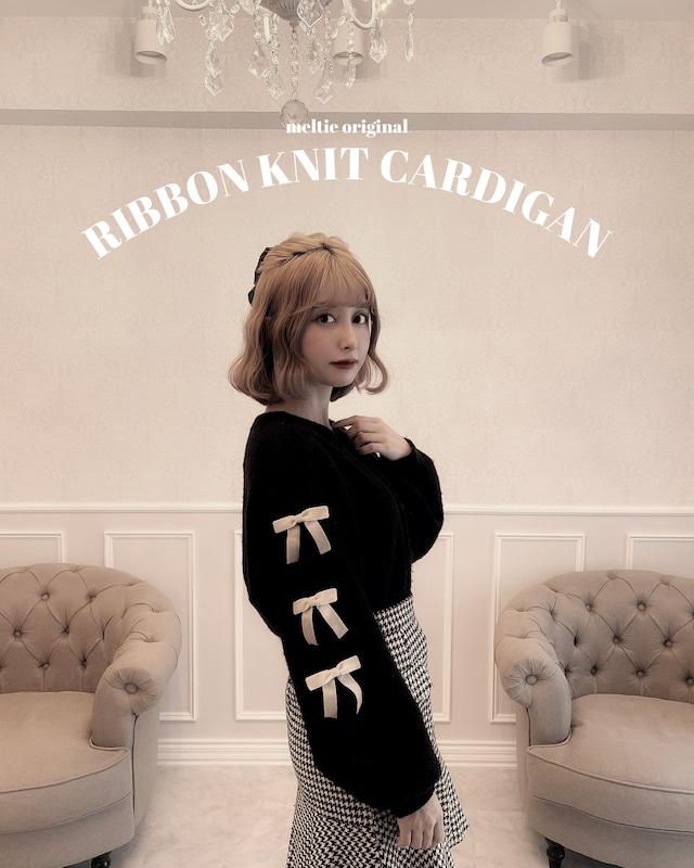 【LAST2】original 3way ribbon knit cardigan - BLACK