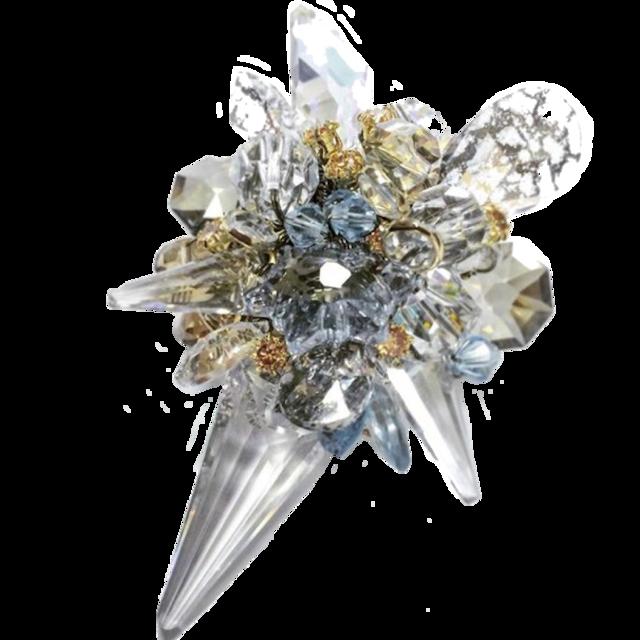 Stardust Brooch (スターダストブローチ)EMU-019-1  クリスタルブルー