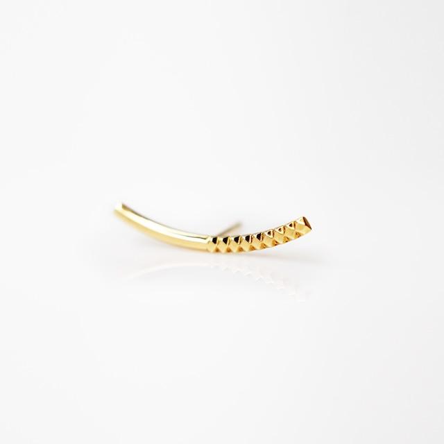 Rock Gold Earrings / Single(E273-YG)