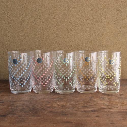 保谷ガラス 水玉グラス 5客セット 在庫2セット