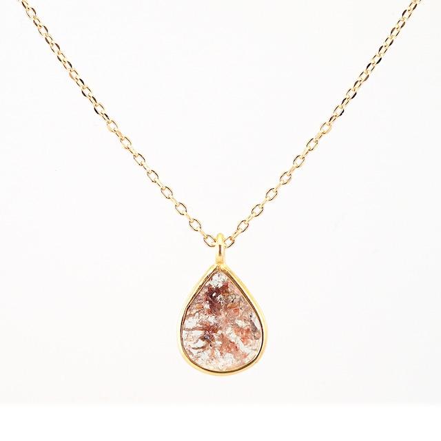 Slice diamond necklace / Red