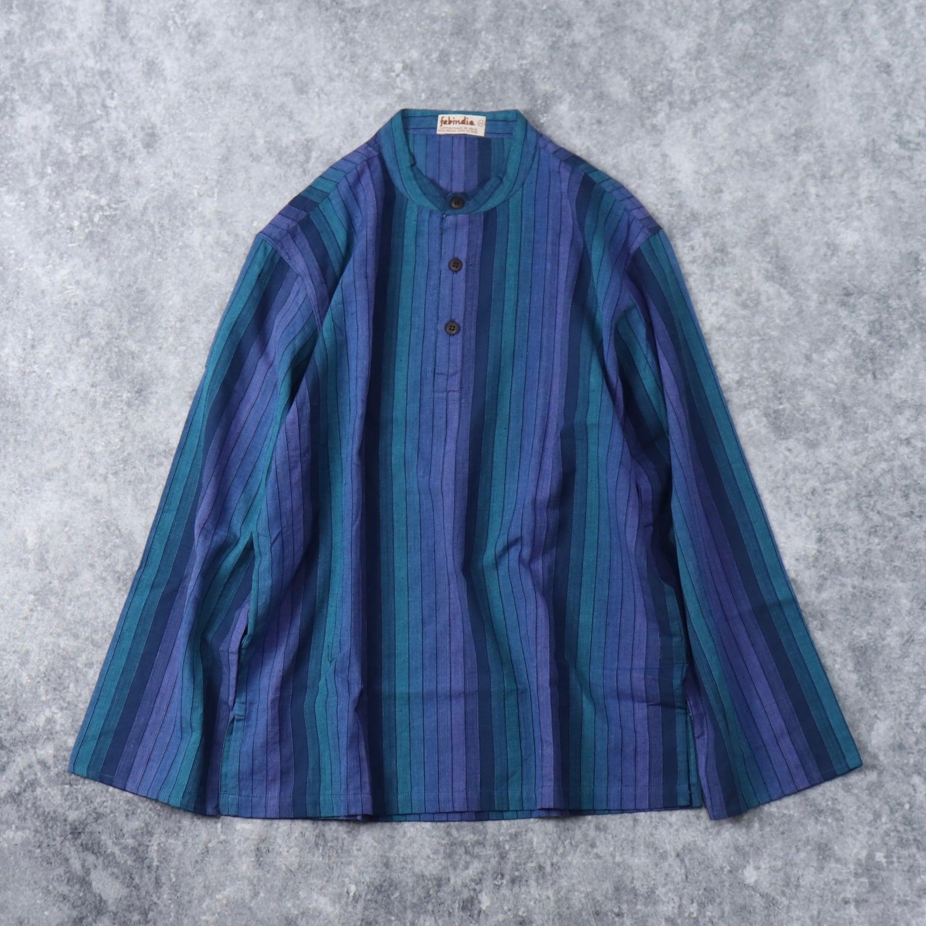 80年代~90年代 ''fabindia'' プルオーバーシャツ 古着 A279