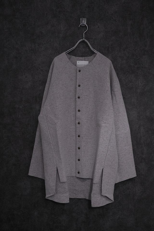VOAAOV Wool Ring Jersey Cardigan  gry