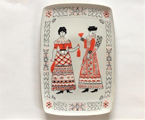 ハンガリー 名窯磁器 ホロハーザ 飾り皿 エンボス絵皿