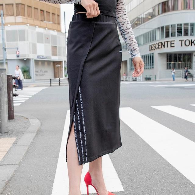 ロゴスリットラップ風スカート (L19097-115)