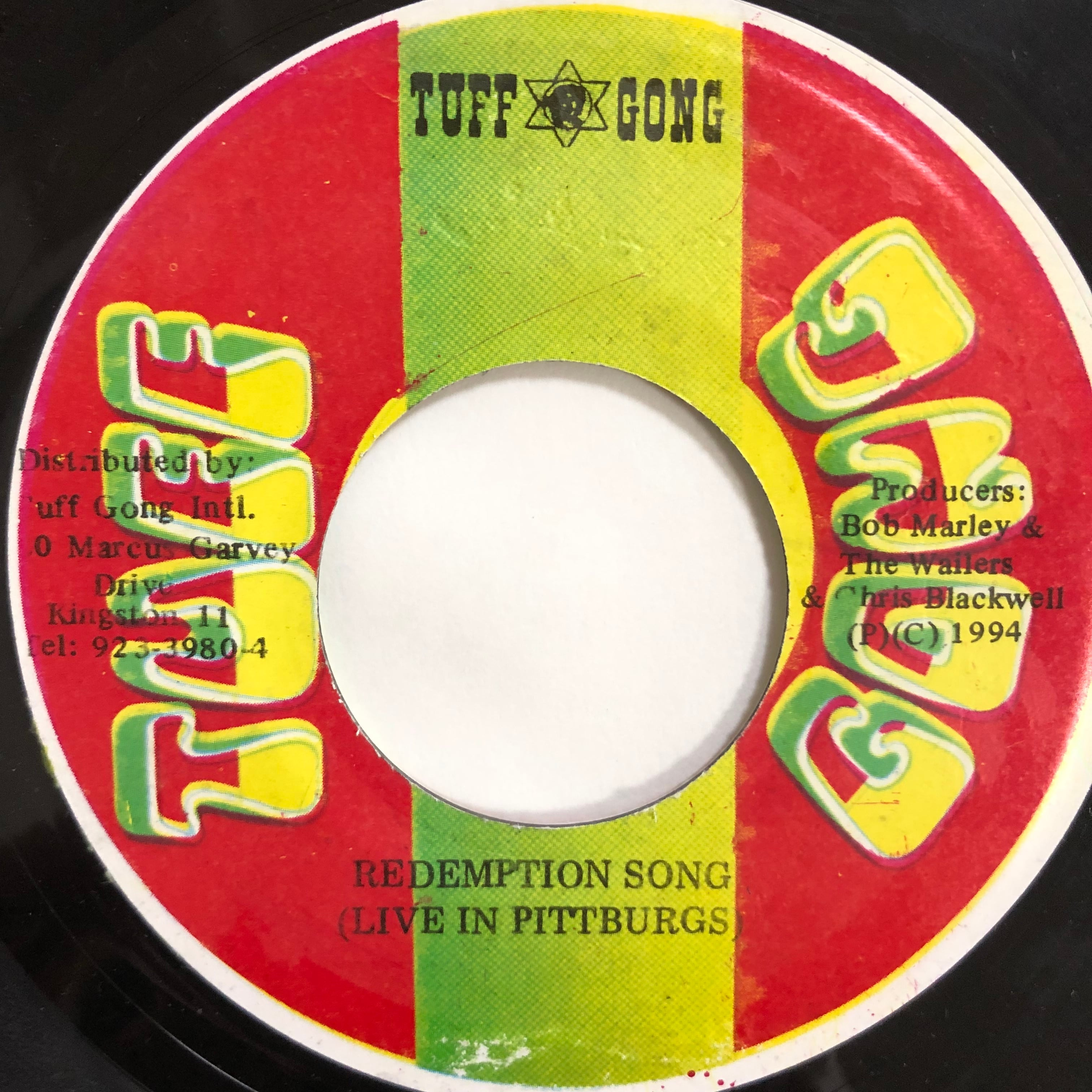 Bob Marley (ボブ・マーリー) & The Wailers (ウェイラーズ) - Redemption Song【7-20204】