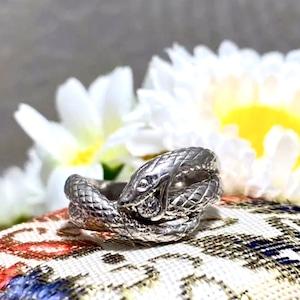 【Japanese traditional ring】★プラチナリング★スネイク★幸運の神様★蛇様★