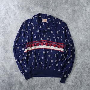 50s ''MAC Laren''  Pullover shirts  50年代 マクローレン プルオーバーシャツ ロカビリーシャツ 雪柄 シャツ レーヨンシャツ A650