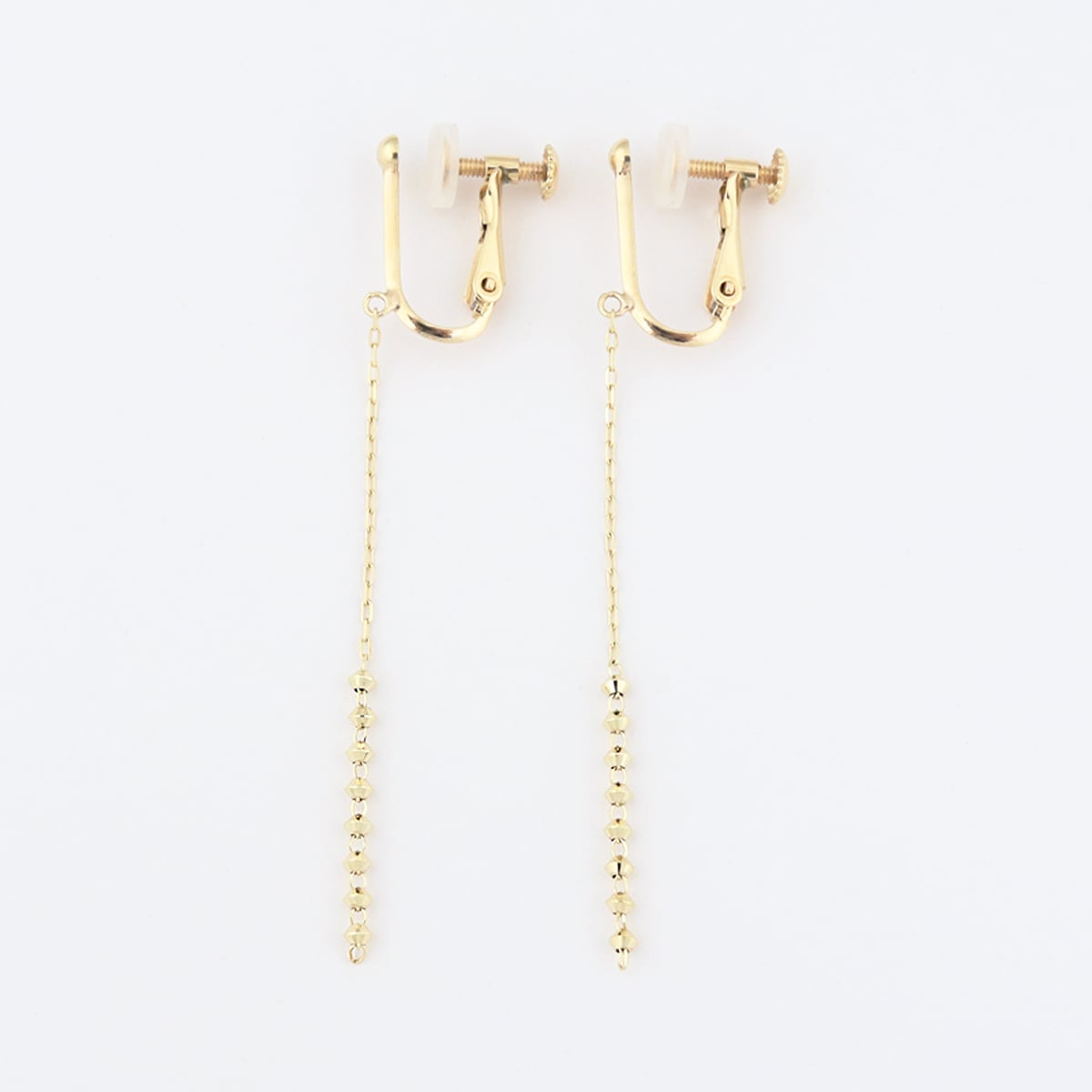 Gold abacus earring
