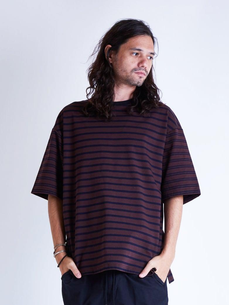 EGO TRIPPING (エゴトリッピング) MIX BORDER TEE ミックスボーダーTシャツ / WINE 663803-14